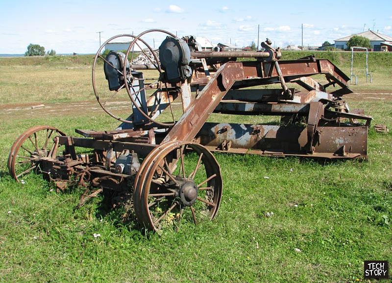 Самодельный трактор на железных колесах
